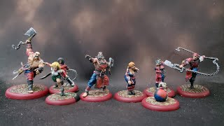Painting Guild Ball practice Butchers