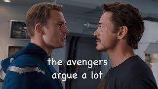 the avengers argue a lot