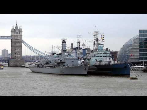 HMS Belfast Canary Wharf London