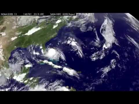 Hurricane Arthur NOAA Satellite Timelapse