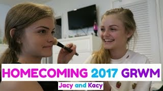 Get Ready With Me ~ Homecoming 2017 GRWM ~ Jacy and Kacy