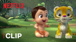 Baby Tiger Friend? 🐯Mighty Little Bheem | Netflix Jr