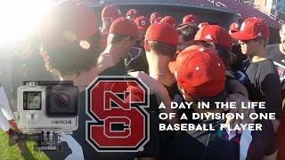 A Day in the Life of a D1 Baseball Player - (Go Pro)