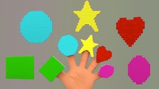lego shapes finger family Song Nursery Rhymes Songs For Childrens Video For Kids And Babies