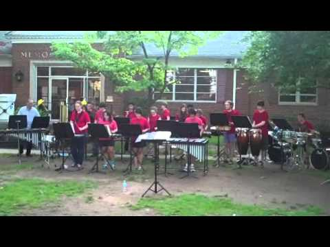 Roselle Park High School Percussion Ensemble- RP Summerfest, 5/29/13- Surf Time