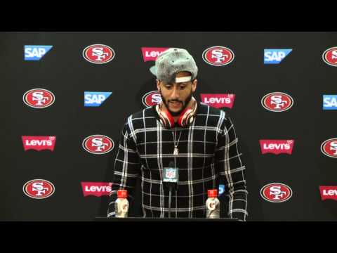 49ers Vs Chargers Postgame Press Conference - Colin Kaepernick