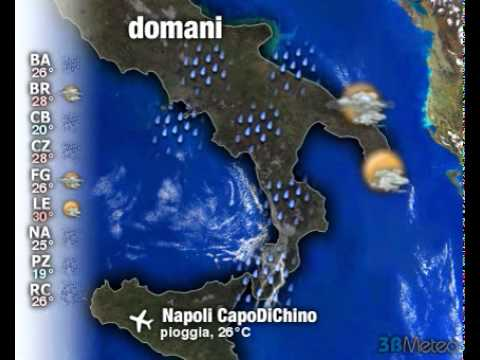 Meteo Italia a 3 giorni del 18/09/2011