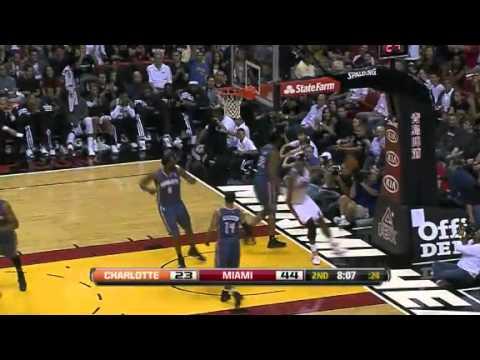 Miami Heat vs Charlotte Bobcats (129 - 90) January 1, 2012