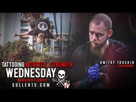Live Tattoo   Dmitry Troshin Tattooing @Tatted_strength