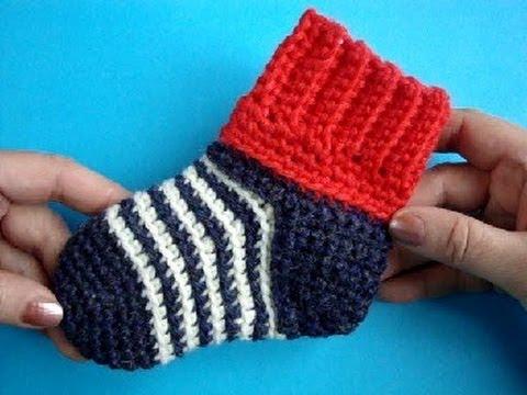 Уроки вязания носков крючком - видео