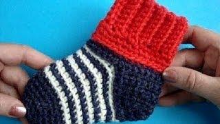 Вязание крючком носков для начинающих видео уроки бесплатно