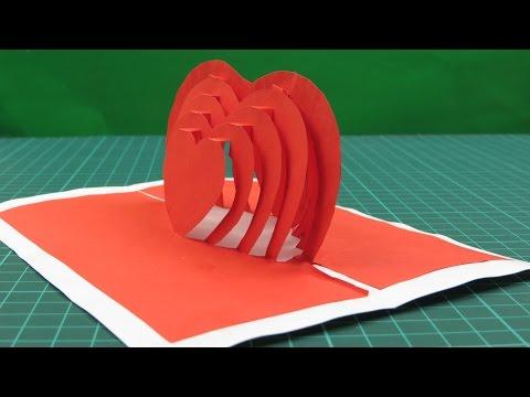 Как сделать из бумаги 3d открытку