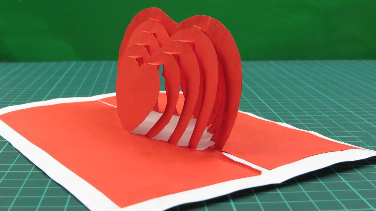 Как сделать сердце из бумаги своими руками открытку на