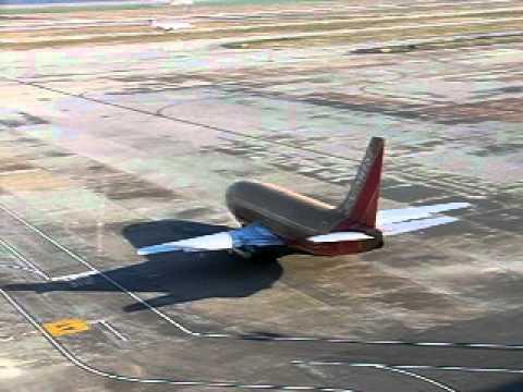 Southwest Airlines B737-200 N95SW leaving gate at KIAH