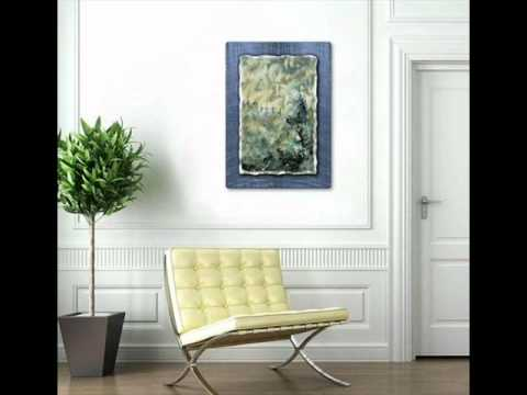 Cloudy Pine Tree Forest Landscape Metal Wall Art Decor Hanging.wmv