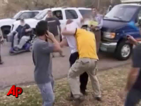 Raw Video: Heene Neighbor Fights With Media