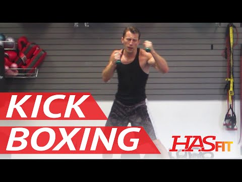 BEST 30 Minute Cardio Kickboxing Workout - Aerobic Cardiovascular Exercises - HASfit Cardio Training Image 1