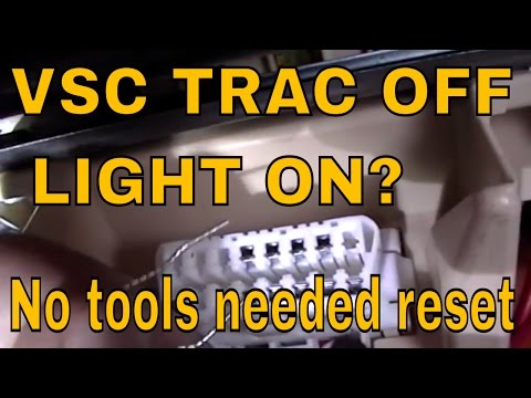 How to do a zero point calibration on LEXUS AND TOYOTA  VSC ,TRAC OFF