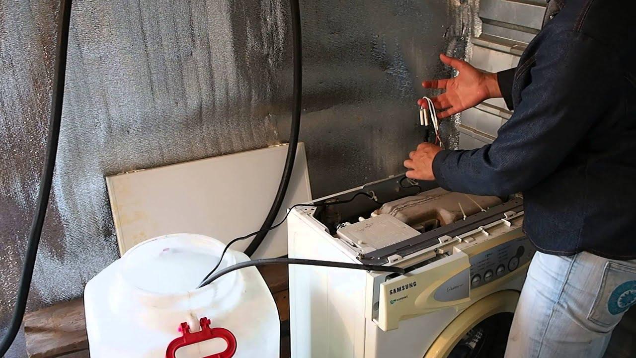 Как подключить стиральную машину без водопровода в доме