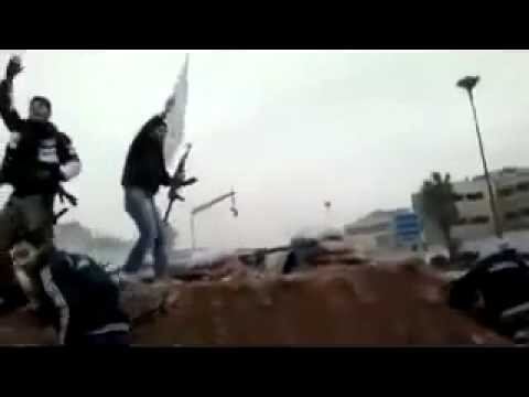 SHAHADA FLAG IS SET UP IN THE BATTLEFIELD   ALLAH Muhayy Al Jaysh Al Hurr    Homs Syria