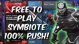 Free To Play Symbiote 100% Push! - Marvel Contest Of Champions