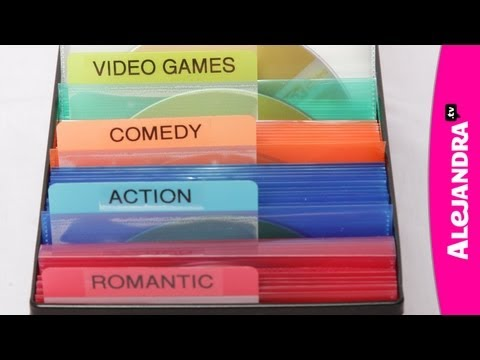 DVD Organization: How to Organize CDs & Media