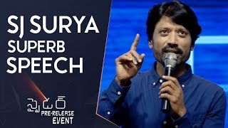 SJ Surya Superb Speech @ Spyder Pre Release Event   Mahesh Babu   A R Murugadoss   Rakul Preet