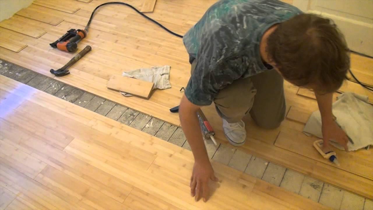 How Install Bamboo Floor Part Youtube