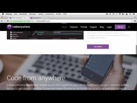 Codeanywhere: Coden im Browser und unterwegs