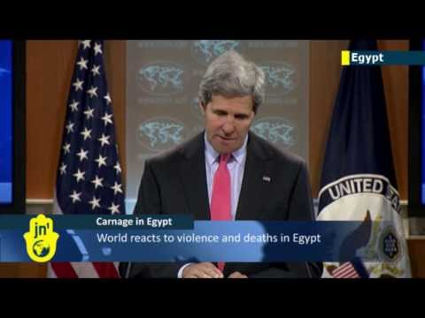Deadly Egypt Clashes: John Kerry leads international condemnation over Cairo protests death toll