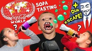 Stopping Hackers & Drinking 60+ Flavors of Soda @ World of Coca-Cola (ATLANTA, GA Family Vlog # 2)