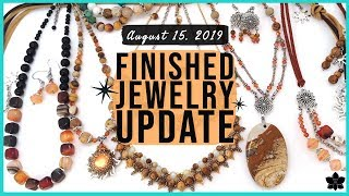 ✨FINISHED JEWELRY UPDATE 💜AUGUST 15, 2019 | Inspired by Aug '19 Bargain Bead Box | Project Share