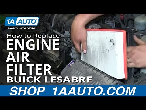 How To Install Replace Engine Air Filter 1997-99 Buick Lesabre