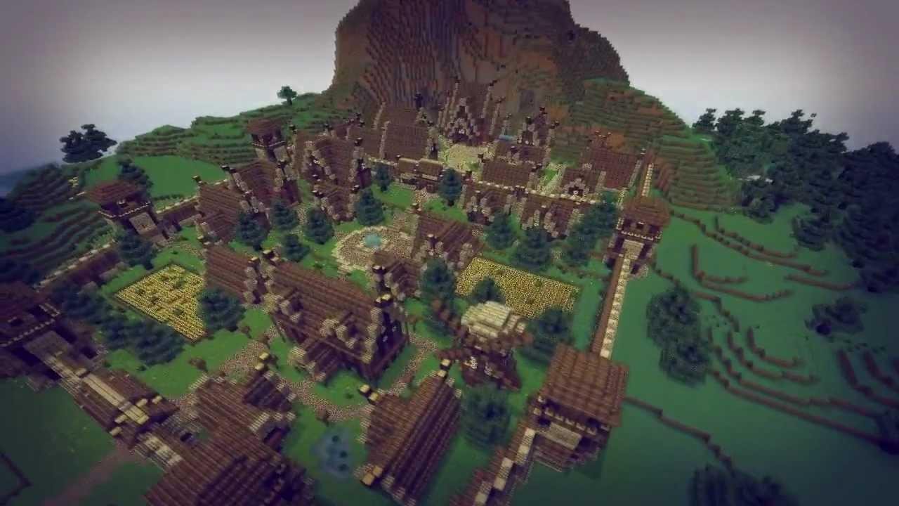 скачать карту русская деревня для minecraft #8