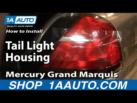 How To Install Replace Taillight and Bulb Mercury Grand Marquis 99-02 1AAuto.com