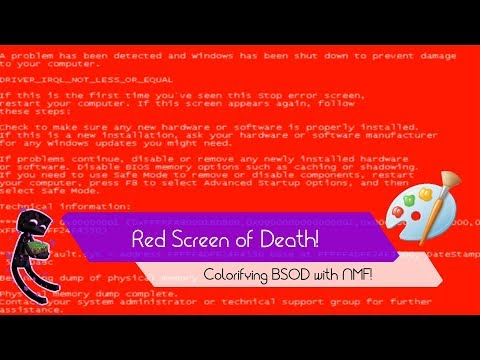 How to make RED SCREEN OF DEATH on your COMPUTER?