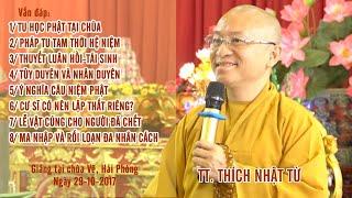 Vấn đáp Phật pháp ngày 29-10-2017 | Thích Nhật Từ