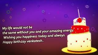 Happy Birthday Wishes Venkatesh - Birthday Wishes Venkatesh