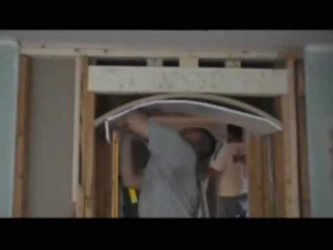 How To Drywall An Archway Youtube
