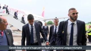 Real Madrid arrive in Cardiff ahead of Champions League final