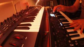 Behringer Deepmind 12 and DSI/Oberheim OB6 together. Demo and tutorial.