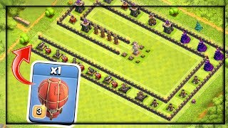 IMPOSSIBLE?! Troll Maze Base in Clash of Clans | CoC | 1 Troop vs 1 Base