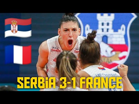 Srbija - Francuska 3:1 odbojka žene, Prvenstvo Evrope 2021