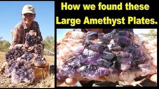 How We Found These LARGE AMETHYST PLATES | Liz Kreate