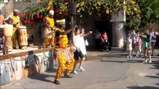 African Dance At Animal Kingdom Disney World 2013