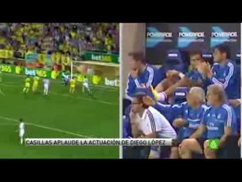 Los aplausos de Casillas  ante el 'show' de Diego López