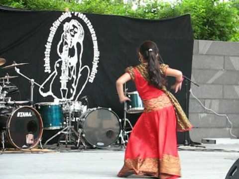 Rose, a Bangladeshi girl dancing