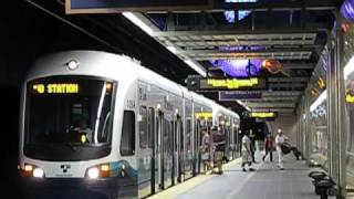 5 trains within 15 minutes (Seattle Link Light Rail)