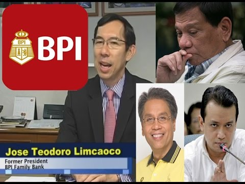 BPI (Bank of the Philippines) response on Trillanes - Roxas vs Duterte's Millions
