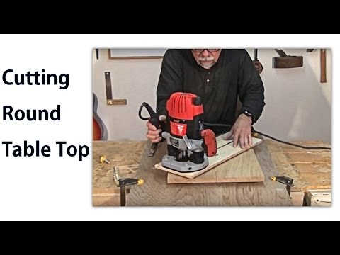 Making A Round Table Top -  A Woodworkweb Woodworking Video video